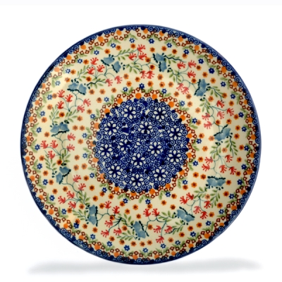 Polish Pottery side plate Florac pattern