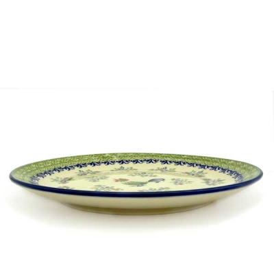 Polish Pottery Breakfast Plate - Pattern Bianca