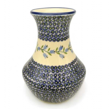Polish Pottery vase 25 cm tall Agnes pattern