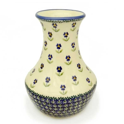 Polish Pottery vase 25 cm tall Angelika pattern