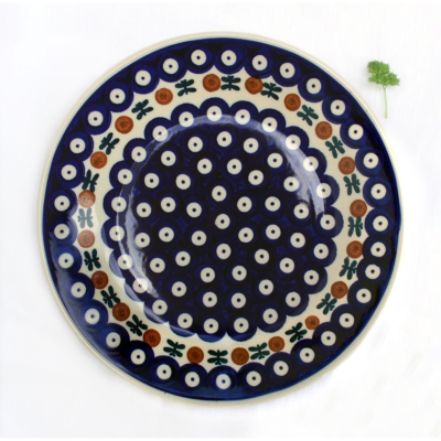 Polish Pottery dessert plate garland design