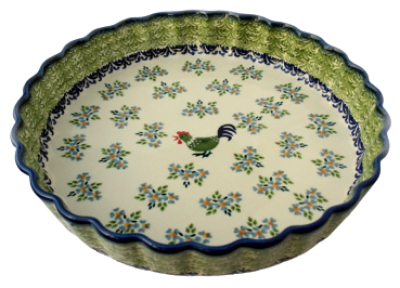 Polish Pottery Quiche Dish Pattern Bianca