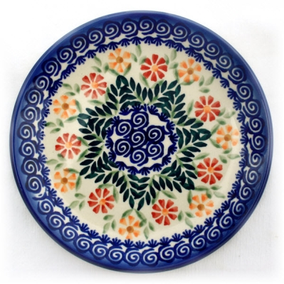 Polish Pottery Cake Plate - Pattern Adelheid