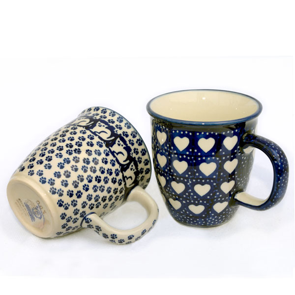 Love Polish Design Hearts Pottery Set Mugs And MarsGarfield Two Of rBxQCWedo