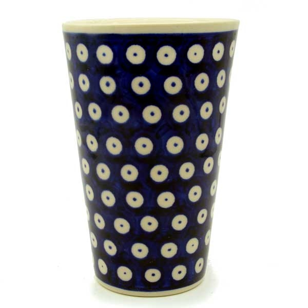 Polish Pottery Aroma Candle Vanilla and Cinnamon, Bluespot Pattern