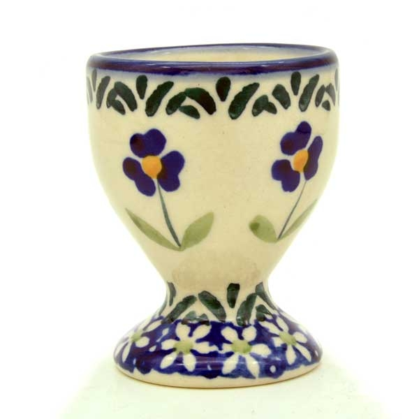 Polish Pottery Egg Cup in Pattern Angelika