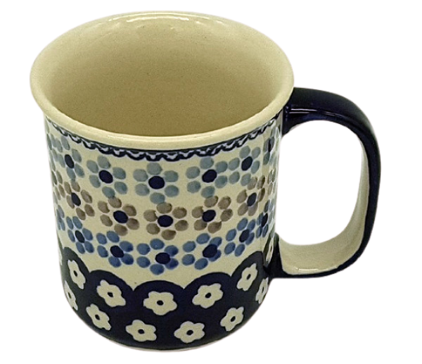 Polish Pottery Mug Straight - Pattern Leonie