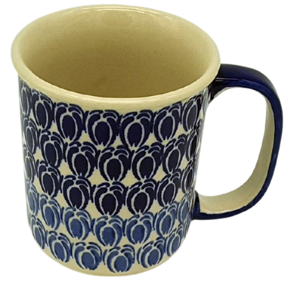 Polish Pottery Mug Straight - Pattern Lotte