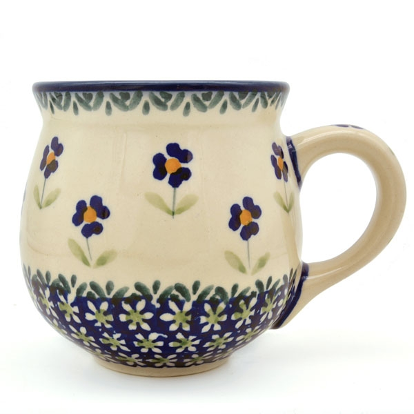 Polish Pottery belly mug medium size, angelika design