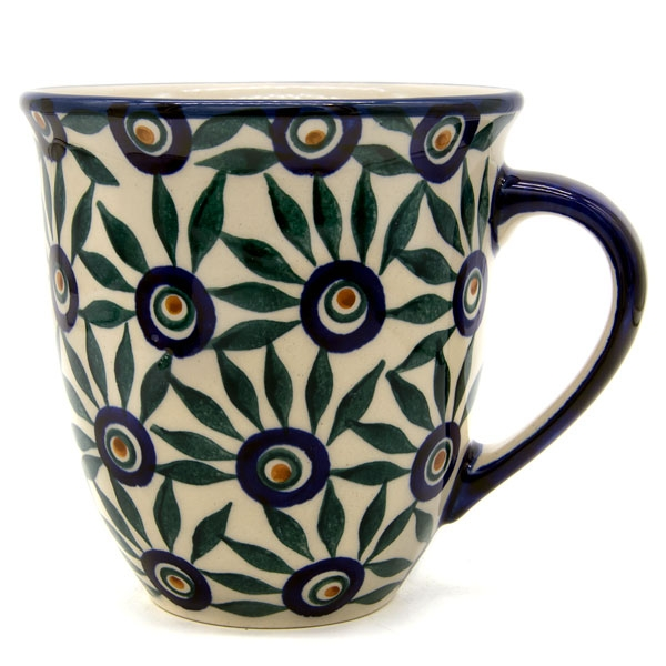 Polish Pottery Mars mug in Aster Pattern