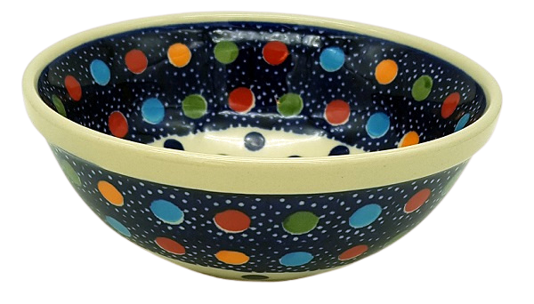 Polish Pottery Bowl - Pattern Konfetti