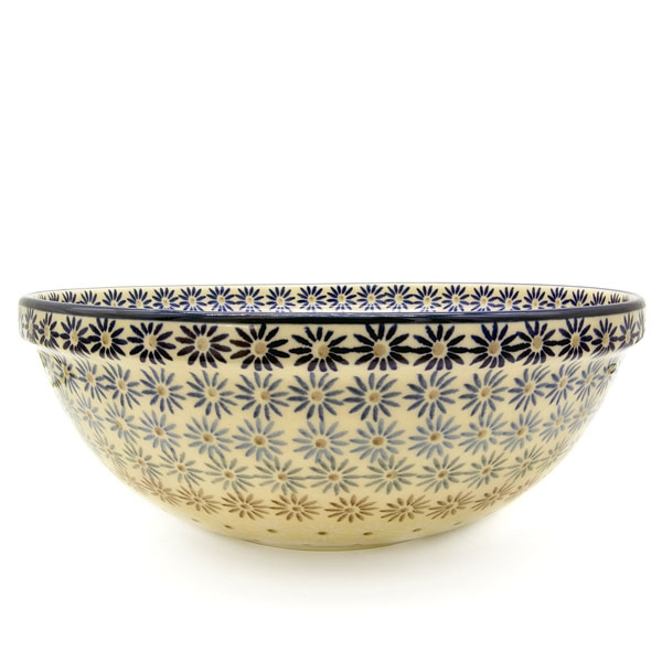 Polish Pottery Salad Bowl Astern design