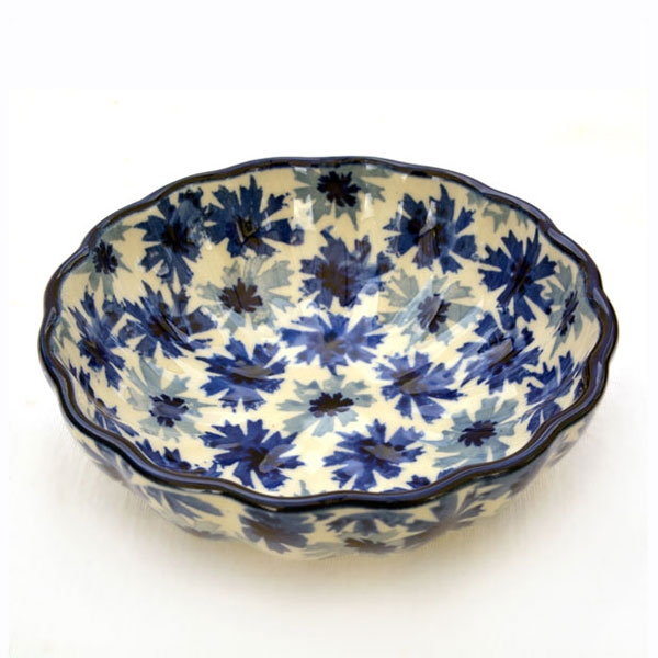 Polish Pottery shell dish smal cornflower design