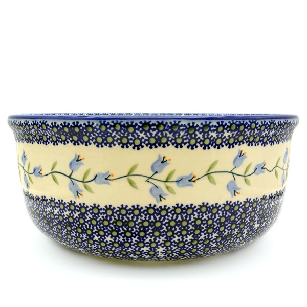 Polish Pottery Salad Bowl - Deep - Pattern Agnes