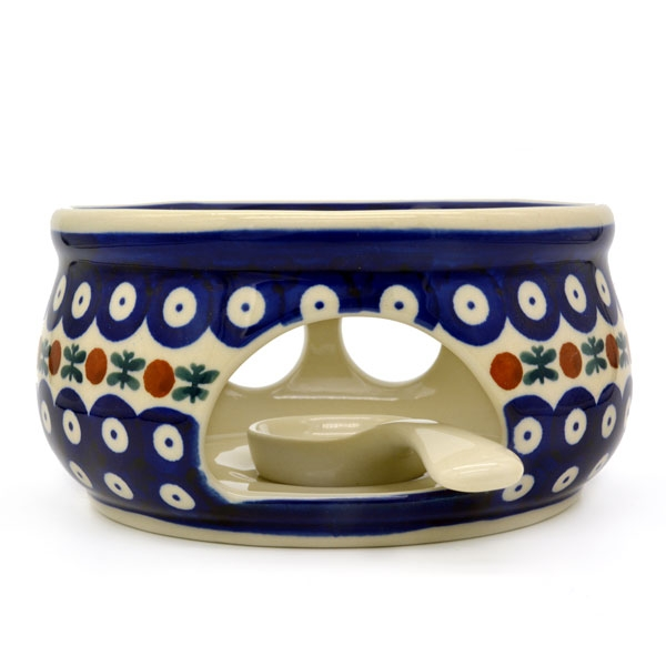 Polish Pottery teapot warmer garland pattern