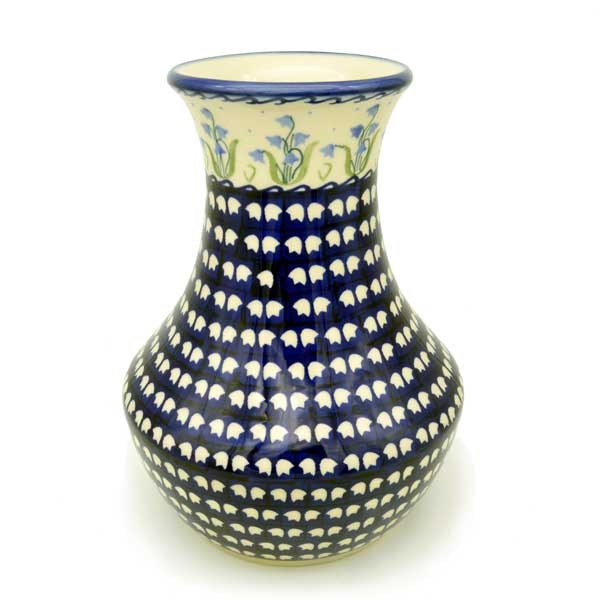 Polish Pottery cone-shaped vase (h) 25cm Pattern Bell Flower