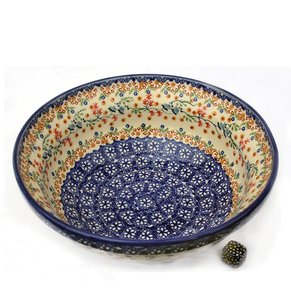 Polish Pottery salad bowl florac design