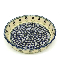 Polish-Pottery-Pie-Dish-Medium-Design-Polka