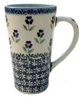 Polish Pottery tall mug John, Angelika pattern