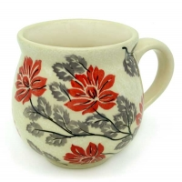 Polish Pottery Belly Mug in Pattern Angela