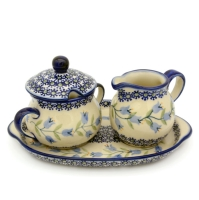 Polish Pottery sugar and creamer set agnes design