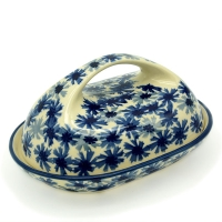 Polish Pottery butterdish oval in pattern Bianca