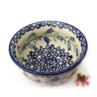 Polish Pottery Bowl Rippled - Pattern Agnes