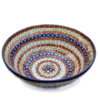 Polish Pottery Bowl dia. 24cm M-092 Pattern Sienna
