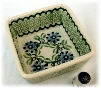 Polish Pottery Dish Square, (s) - Pattern Andrea